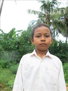 Choose a child to sponsor, like this little boy from Soutr Nikom, Visal age 9