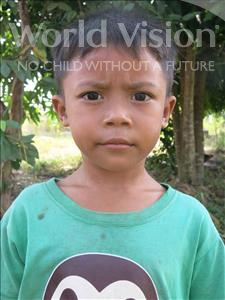 Choose a child to sponsor, like this little boy from Soutr Nikom, Phirom age 6