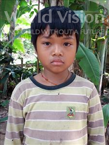 Choose a child to sponsor, like this little boy from Soutr Nikom, Sopheak age 8