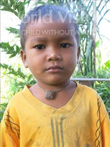 Choose a child to sponsor, like this little boy from Soutr Nikom, Niku age 4