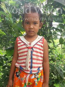 Choose a child to sponsor, like this little girl from Soutr Nikom, Sophanith age 6