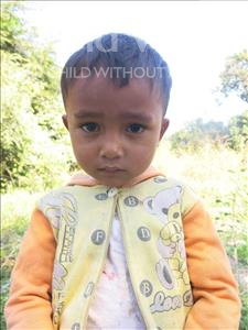 Choose a child to sponsor, like this little boy from Soutr Nikom, Bunyong age 3