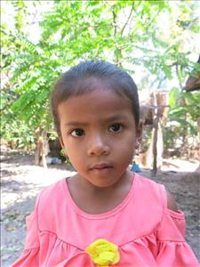 Choose a child to sponsor, like this little girl from Soutr Nikom, Miemie age 5