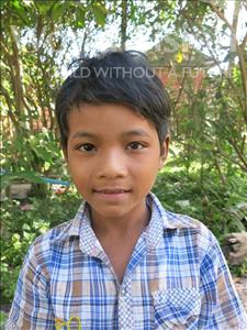 Choose a child to sponsor, like this little boy from Soutr Nikom, Bunreach age 9