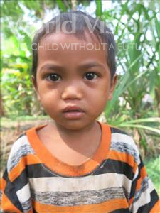 Choose a child to sponsor, like this little boy from Soutr Nikom, Vannak age 4