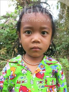 Choose a child to sponsor, like this little girl from Soutr Nikom, Ryna age 4