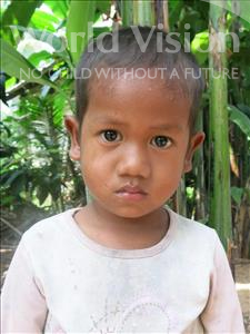 Choose a child to sponsor, like this little boy from Soutr Nikom, Vireak age 4