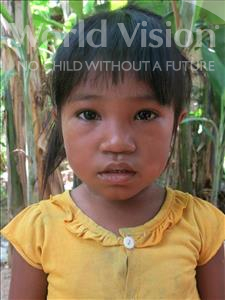 Choose a child to sponsor, like this little girl from Soutr Nikom, Phanny age 5