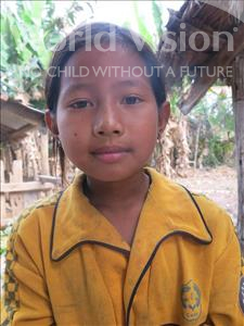 Choose a child to sponsor, like this little girl from Soutr Nikom, Siev Ing age 10