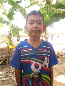Choose a child to sponsor, like this little boy from Soutr Nikom, Panha age 7