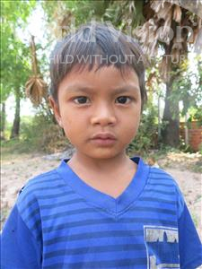 Choose a child to sponsor, like this little boy from Soutr Nikom, Ratha age 4