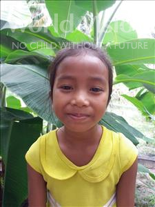 Choose a child to sponsor, like this little girl from Soutr Nikom, Chhiva age 7