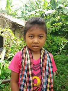 Choose a child to sponsor, like this little girl from Soutr Nikom, Chiva age 6