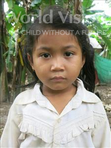 Choose a child to sponsor, like this little girl from Soutr Nikom, Ripha age 4