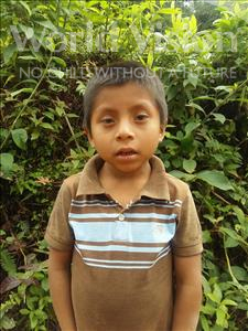 Choose a child to sponsor, like this little boy from Maya, Brayan  Riquelmer age 7