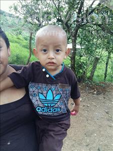 Choose a child to sponsor, like this little boy from Maya, Gerlin Isai age 2