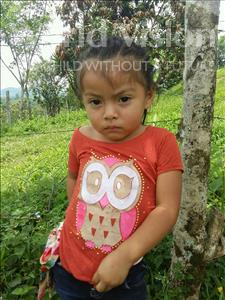 Choose a child to sponsor, like this little girl from Maya, Kimberly Magdalena age 3