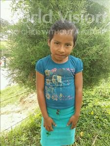 Choose a child to sponsor, like this little girl from Maya, Elida Yojana age 7