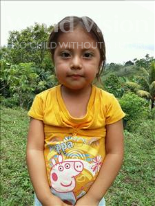 Choose a child to sponsor, like this little girl from Maya, Sindy Dariela age 4