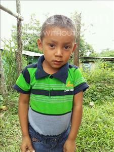 Choose a child to sponsor, like this little boy from Maya, Brayan Arnaldo age 3
