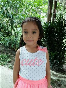 Choose a child to sponsor, like this little girl from Maya, Odalis Sarai age 4