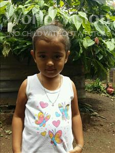 Choose a child to sponsor, like this little girl from Maya, Steylin Daleysa age 3