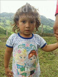 Choose a child to sponsor, like this little girl from Maya, Reina Nayeli age 2