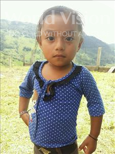 Choose a child to sponsor, like this little girl from Maya, Ingrid Sobeyda age 3