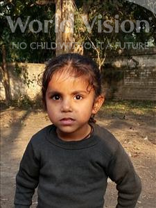 Choose a child to sponsor, like this little girl from Bhojpur, Sonam age 5