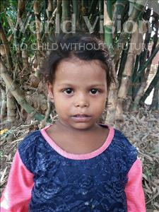 Choose a child to sponsor, like this little girl from Bhojpur, Minta age 6