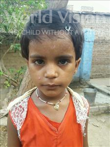 Choose a child to sponsor, like this little girl from Bhojpur, Saloni age 3