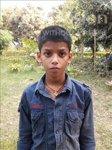 Choose a child to sponsor, like this little boy from Patna, Sunny age 12
