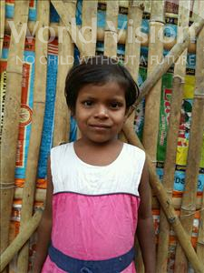 Choose a child to sponsor, like this little girl from Patna, Sonam age 7