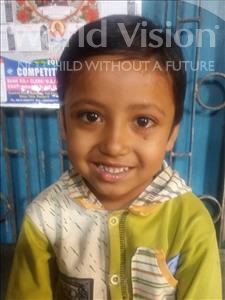 Choose a child to sponsor, like this little boy from Patna, Aniket age 7