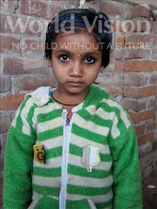 Choose a child to sponsor, like this little girl from Patna, Rajnandini age 8