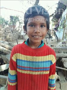 Choose a child to sponsor, like this little boy from Patna, Tuntun age 8