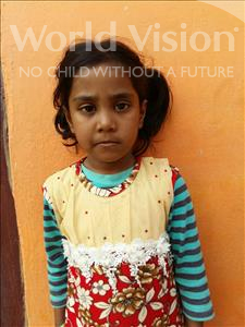 Choose a child to sponsor, like this little girl from Patna, Harshita age 6