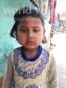 Choose a child to sponsor, like this little girl from Patna, Rajini age 5