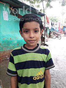 Choose a child to sponsor, like this little boy from Patna, Aryan Raj age 7