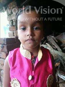 Choose a child to sponsor, like this little girl from Patna, Laxmi age 2