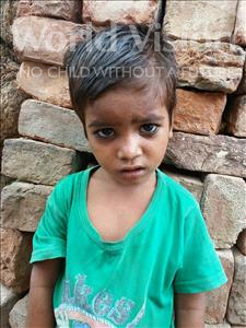 Choose a child to sponsor, like this little boy from Patna, Sudhir age 3