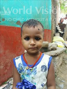 Choose a child to sponsor, like this little girl from Patna, Annu age 2