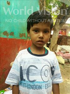 Choose a child to sponsor, like this little boy from Patna, Aditya age 5