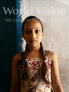 Choose a child to sponsor, like this little girl from Patna, Sri age 11