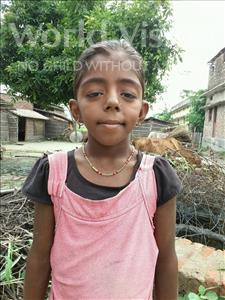Choose a child to sponsor, like this little girl from Vaishali, Suman age 12