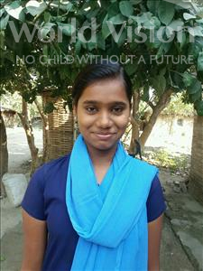 Choose a child to sponsor, like this little girl from Vaishali, Simran age 13