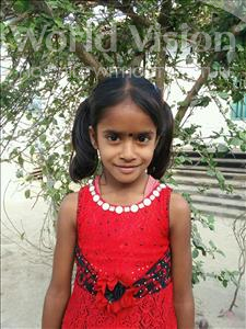 Choose a child to sponsor, like this little girl from Vaishali, Priyanshu age 7