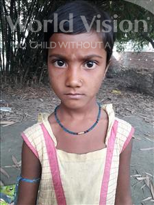 Choose a child to sponsor, like this little girl from Vaishali, Risha age 9