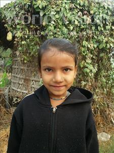 Choose a child to sponsor, like this little girl from Vaishali, Gudiya age 7