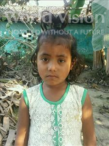 Choose a child to sponsor, like this little girl from Vaishali, Neha age 6